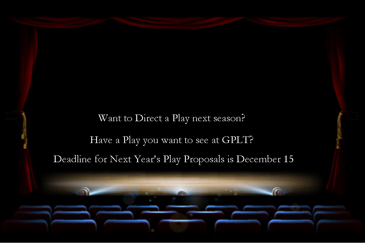 December 15 deadline for next season's play submissions